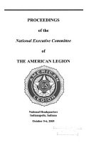 Proceedings of ... National Executive Committee of the American Legion