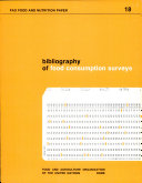 Bibliography of Food Consumption Surveys