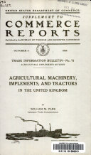 Agricultural Machinery  Implements  and Tractors in the United Kingdom