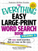 The Everything Easy Large Print Word Search Book  Volume III