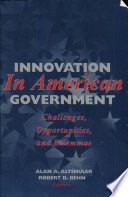 Innovation in American Government Book