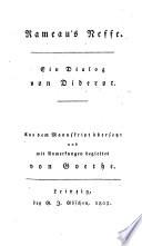 Rameau's Neffe  : ein Dialog
