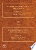 Disorders of Emotion in Neurologic Disease Book