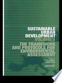 Sustainable Urban Development Volume 1