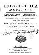 Enciclopedia Metódica, Geografía Moderna