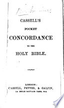 Cassell S Pocket Concordance To The Holy Bible Book