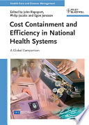 Cost Containment and Efficiency in National Health Systems Book