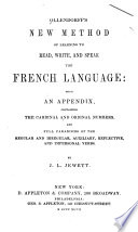Ollendorff s New Method of Learning to Read  Write  and Speak the French Language