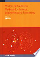 Modern Optimization Methods for Science, Engineering and Technology