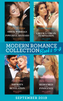 Modern Romance Books September Books 5-8: Shock Marriage for the Powerful Spaniard (Conveniently Wed!) / The Greek's Virgin Temptation / Sheikh's Royal Baby Revelation / Redeemed by Her Innocence Book