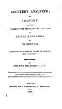 Adultery Analyzed ebook