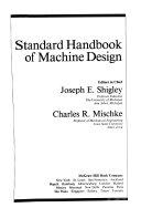 Standard Handbook of Machine Design Book