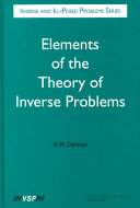 Elements of the Theory of Inverse Problems