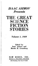 The Great Science Fiction Stories 1939 Book