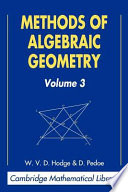 Methods of Algebraic Geometry: