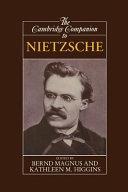 The Cambridge Companion to Nietzsche