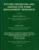 Future Priorities and Agenda for Farm Management Research