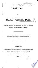 Letters of Isaac Penington, the greater part not before published