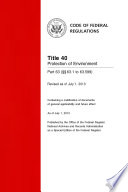 Title 40 Protection Of Environment Part 63 63 1 To 63 599 Revised As Of July 1 2013