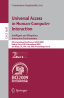 Universal Access in Human Computer Interaction  Intelligent and Ubiquitous Interaction Environments
