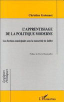 Pdf L'APPRENTISSAGE DE LA POLITIQUE MODERNE Telecharger