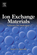 Ion Exchange Materials: Properties and Applications
