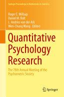 Pdf Quantitative Psychology Research Telecharger
