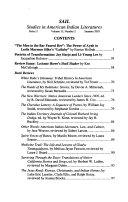 Pdf Studies in American Indian Literatures