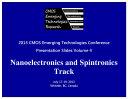 CMOSET 2013 Vol  4  Nanoelectronics and Spintronics Track
