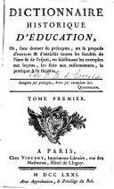 Dictionnaire Historique D'Éducation