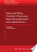Heat And Mass Transfer Processes New Developments And Applications Book PDF