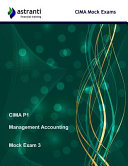 Cima P1 Management Accounting