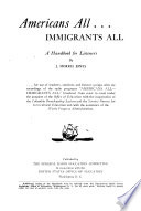 Americans All, Immigrants All, a Handbook for Listeners and a Manual