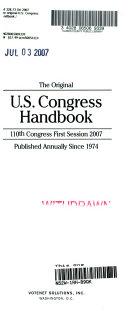 The Original U S  Congress Handbook 2007