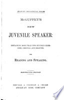 Mcguffey S New Juvenile Speaker Book