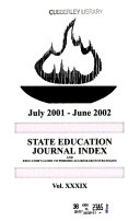 State Education Journal Index