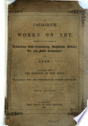 Catalogue Of Works On Art For 1856 Book PDF