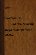 If the American People Made the Peace