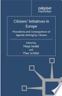 Citizens Initiatives In Europe Book