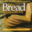 Pdf Best Breadmachine Recipes: Better Homes and Gardens Series