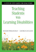 Cover of Teaching Students With Learning Disabilities