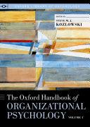 The Oxford Handbook of Organizational Psychology