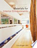 Materials for Interior Environments Book PDF
