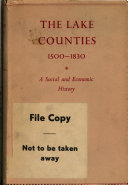 Pdf A Short Economic and Social History of the Lake Counties, 1500-1830