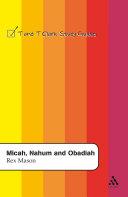 Pdf Micah, Nahum and Obadiah