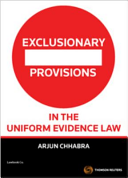 Cover of Exclusionary Provisions in the Uniform Evidence Law