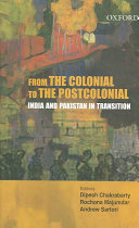 From the Colonial to the Postcolonial