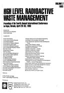 High Level Radioactive Waste Management