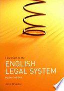 Essentials of the English Legal System