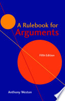 A Rulebook For Arguments Book